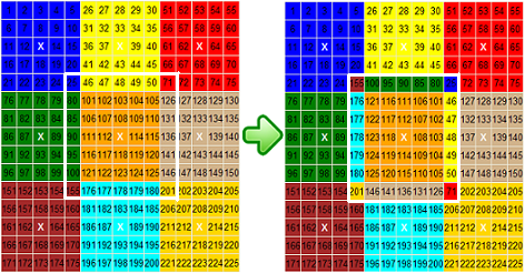 Flat Rubik – Rotate 7x7 Puzzle example