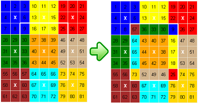 Flat Rubik – Rotate 5x5 Puzzle example