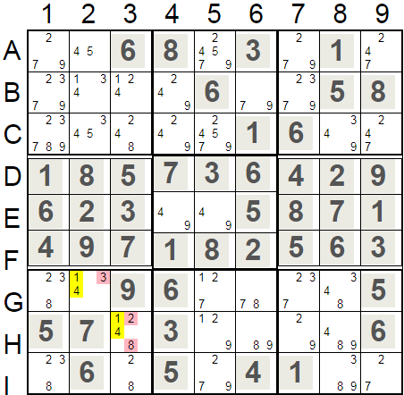 Hidden Pairs In Square